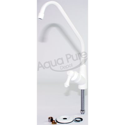 FAUCET  LONG REACH  WHITE CERAMIC