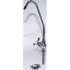 FAUCET  LONG REACH  CHROME CERAMIC