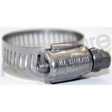 "HOSE CLAMP 1 / 2"" TO 1"" STAINLESS STEEL"