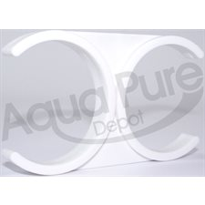 "CLIP DOUBLE WHITE FOR MEMBRANE HSG. 2-1 / 2"" X2-1 / 2"""